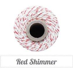 画像1: Red Shimmer(Red Metallic & Natural) Eco-Luxe Baker's Twine