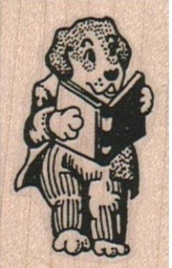 画像1: Bookish Dog 1 1/4 x 1 3/4
