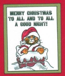 画像2: Cat Santa in Chimney