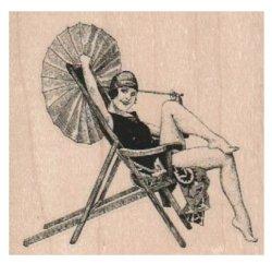 画像1: Parasol Lady In Chair 3 1/4 x 3