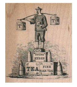 画像1: Tea Carrier On Tea Boxes 2 1/4 x 2 1/2